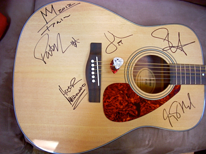 Guitar Signed by Train ! bid Now